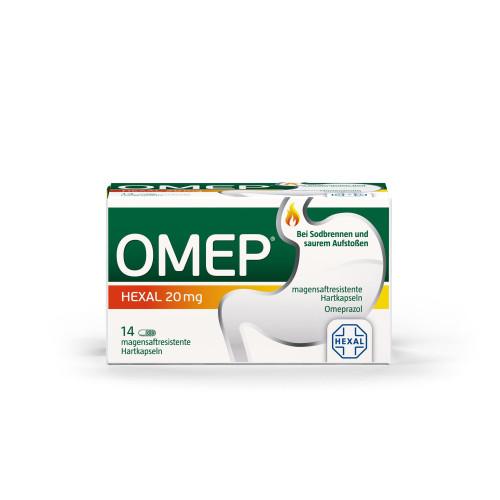 OMEP HEXAL 20mg magensaftresistente Hartkapseln, 14 ST, HEXAL AG