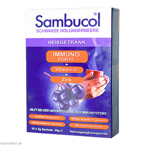 Sambucol Immuno Forte Heißgetränk, 10X3 G, Apofit Arzneimittelvertrieb GmbH