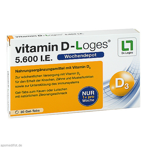 vitamin D-Loges 5.600 I.E., 30 ST, Dr. Loges + Co. GmbH