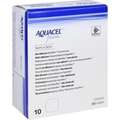 AQUACEL Foam nicht adhäsiv 5x5 cm Verband, 10 ST, ToRa Pharma GmbH