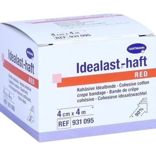 Idealast-haft color Binde 4cmx4m rot, 1 ST, Paul Hartmann AG