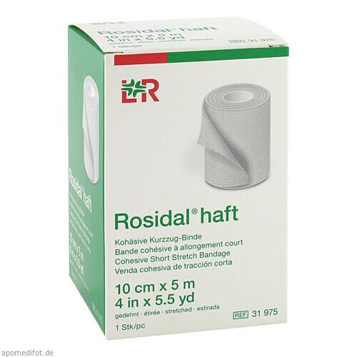 Rosidal haft Kompress.Bind. 10cmx5m, 1 ST, Lohmann & Rauscher GmbH & Co. KG