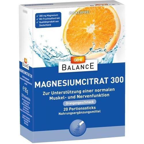 GEHE BALANCE Magnesiumcitrat 300, 20 ST, Gehe Pharma Handel GmbH