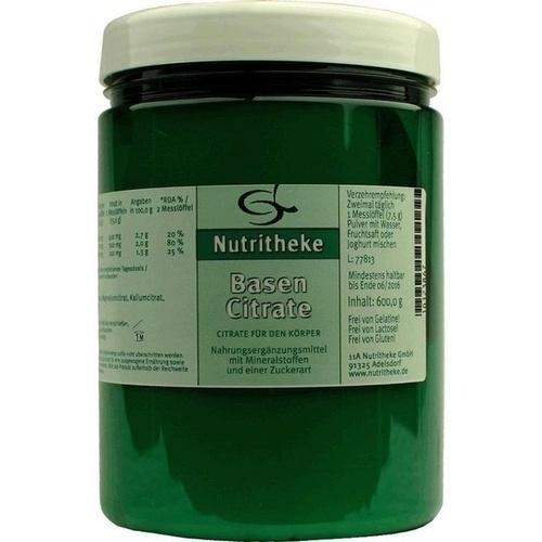 BASEN CITRATE Pulver, 600 G, 11 A Nutritheke GmbH