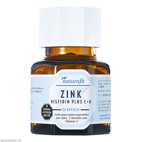 Naturafit Zink Histidin plus C+D, 30 ST, Naturafit GmbH