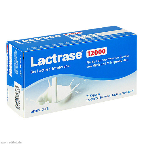 LACTRASE 12.000 FCC Kapseln, 75 ST, Pro Natura Gesellschaft für gesunde Ernä