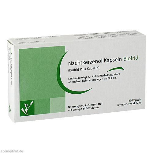 Nachtkerzenöl Kapseln Biofrid, 40 ST, Biofrid GmbH & Co. KG