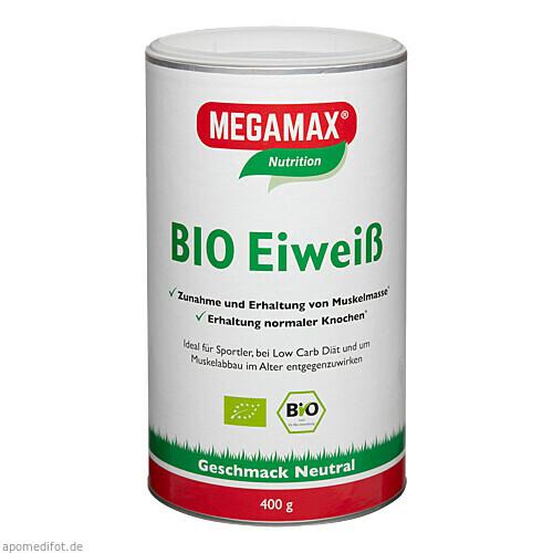 Bio Eiweiss neutral Megamax, 400 G, Megamax B.V.