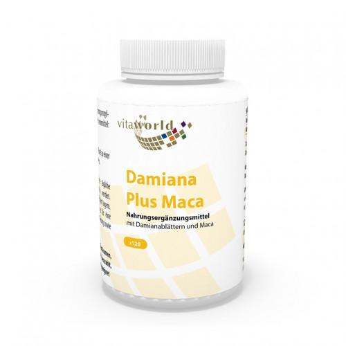 Damiana Plus Maca, 120 ST, Vita World GmbH