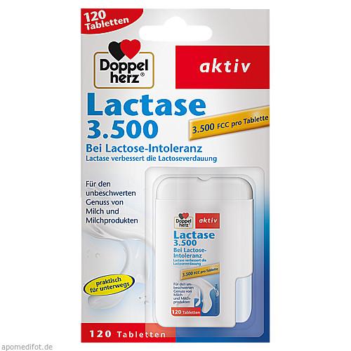 DOPPELHERZ Lactase 3.500 Tabletten, 120 ST, Queisser Pharma GmbH & Co. KG