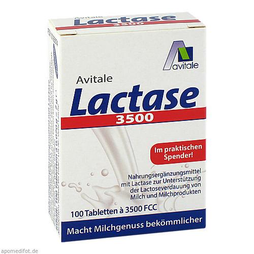Lactase 3500 FCC Tabletten im Klickspender, 100 ST, Avitale GmbH