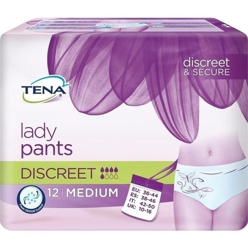 TENA Lady Pants Discreet M, 12 ST, Essity Germany GmbH