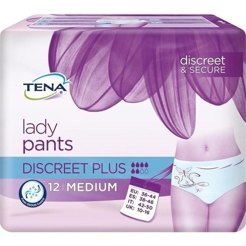 TENA Lady Pants Discreet Plus M, 12 ST, Essity Germany GmbH