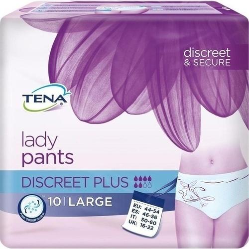 TENA Lady Pants Discreet Plus L, 10 ST, Essity Germany GmbH