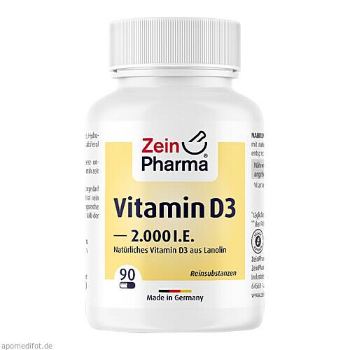 Vitamin D3 2000 I.E., 90 ST, Zein Pharma - Germany GmbH