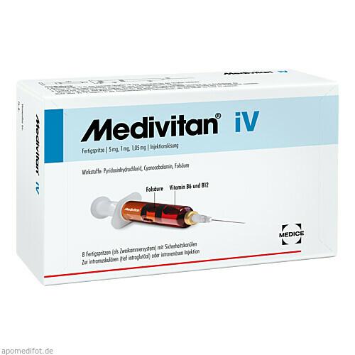 Medivitan iV Fertigspritze, 8 ST, MEDICE Arzneimittel Pütter GmbH & Co. KG
