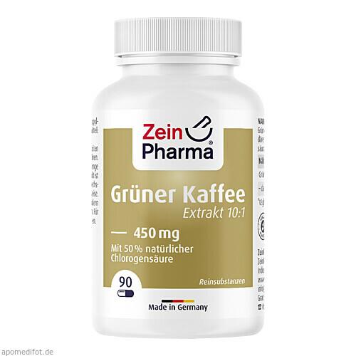 Grüner Kaffee Extrakt 450mg, 90 ST, Zein Pharma - Germany GmbH