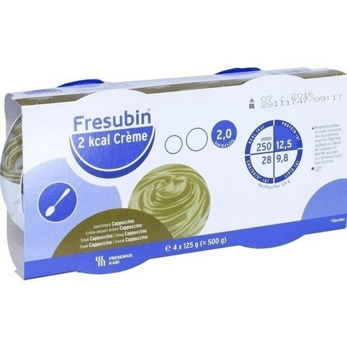 Fresubin 2kcal Creme Cappuccino, 4X125 G, Fresenius Kabi Deutschland GmbH