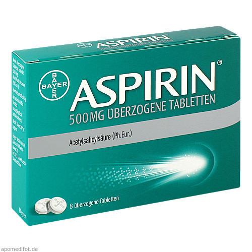 Aspirin 500mg überzogene Tabletten, 8 ST, Bayer Vital GmbH