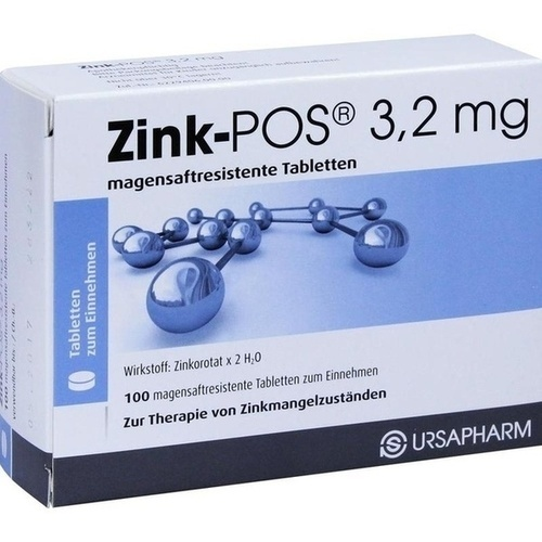 Zink-POS 3.2mg, 100 ST, Ursapharm Arzneimittel GmbH