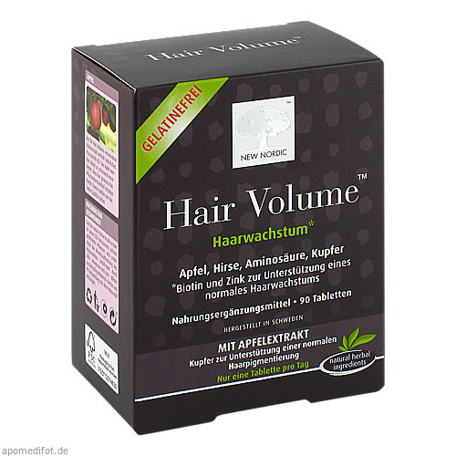 Hair Volume, 90 ST, New Nordic Deutschland GmbH