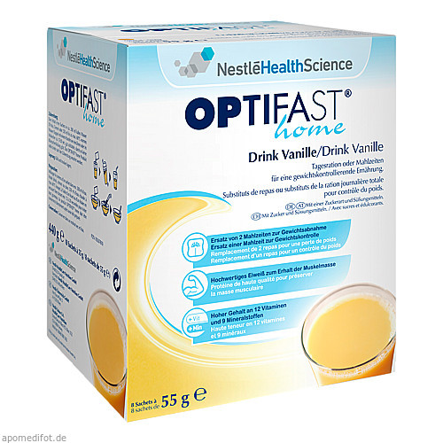 OPTIFAST home Drink Vanille, 8X55 G, MUCOS Pharma GmbH & Co. KG