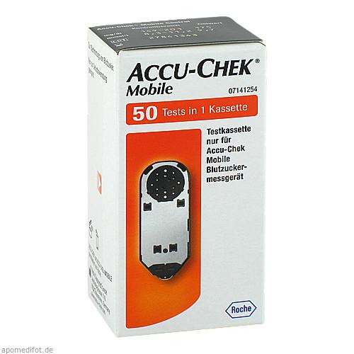 ACCU-CHEK Mobile Testkassette, 50 ST, Roche Diabetes Care Deutschland GmbH