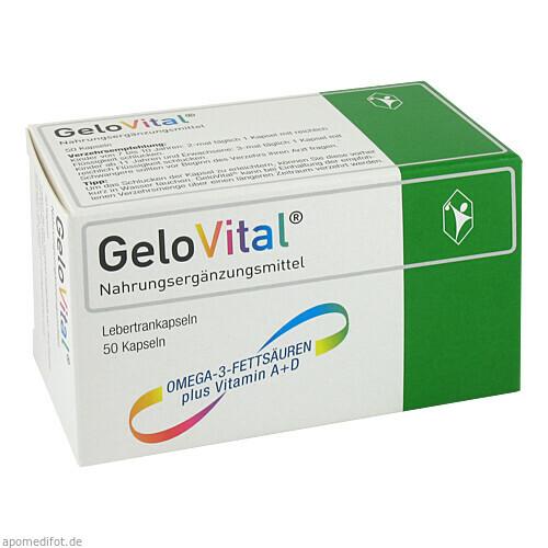 GeloVital Nahrungsergänzungsmittel Lebertran, 50 ST, G. Pohl-Boskamp GmbH & Co. KG