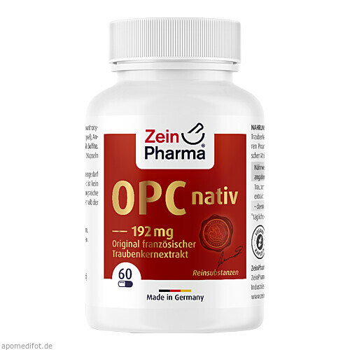 OPC nativ Kapseln 192mg reines OPC, 60 ST, Zein Pharma - Germany GmbH