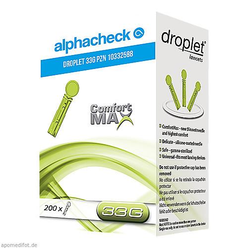 ALPHACHECK droplet Lanzetten 33 G, 200 ST, Berger Med GmbH