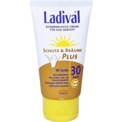 LADIVAL Schutz&Bräune Plus Creme f.Gesicht LSF 30, 75 ML, STADA GmbH