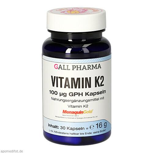 Vitamin K2 100ug GPH Kapseln, 30 ST, Hecht-Pharma GmbH