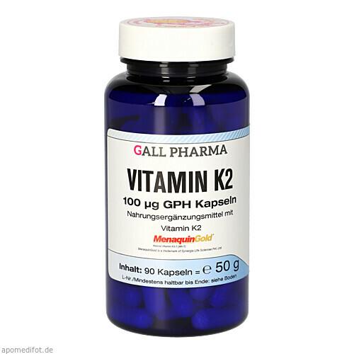 Vitamin K2 100ug GPH Kapseln, 90 ST, Hecht-Pharma GmbH
