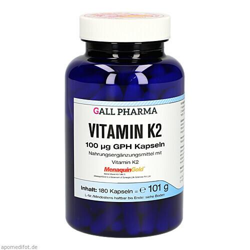 Vitamin K2 100ug GPH Kapseln, 180 ST, Hecht-Pharma GmbH
