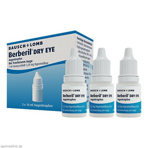 Berberil Dry Eye Augentropfen, 3X10 ML, Dr. Gerhard Mann