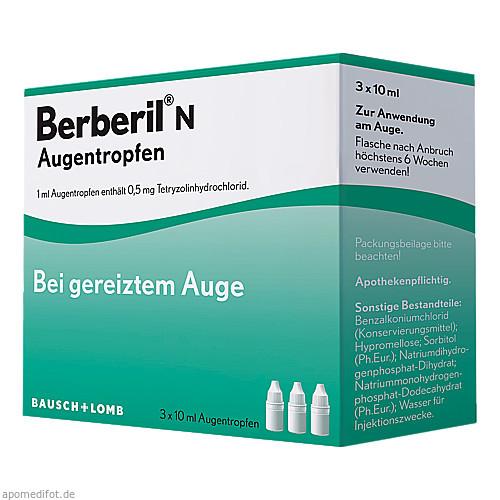 Berberil N Augentropfen, 3X10 ML, Dr. Gerhard Mann