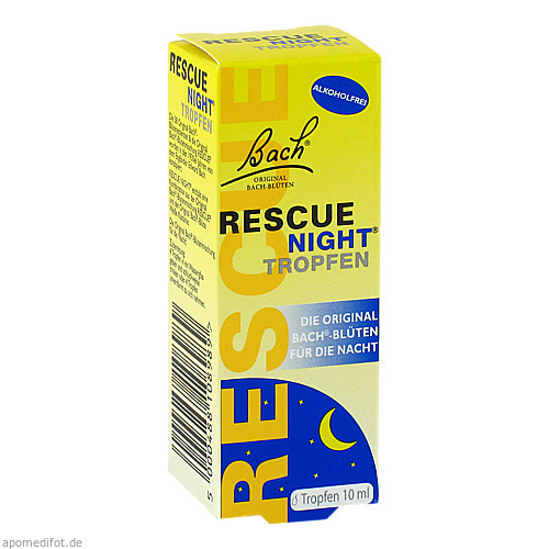 Bach Original Rescue Night Tropfen alkoholfrei, 10 ML, Nelsons GmbH