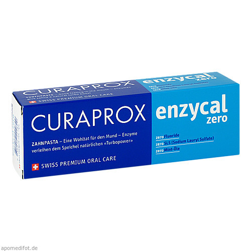 Curaprox enzycal zero Zahnpasta, 75 ML, Curaden Germany GmbH