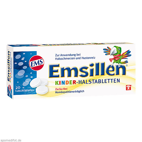 Emsillen Kinder-Halstabletten Vanille, 20 ST, Siemens & Co