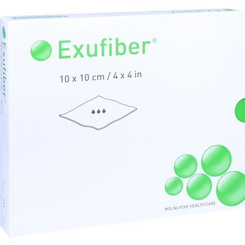 Exufiber 10x10cm Gelbildender Faserverband, 10 ST, Mölnlycke Health Care GmbH