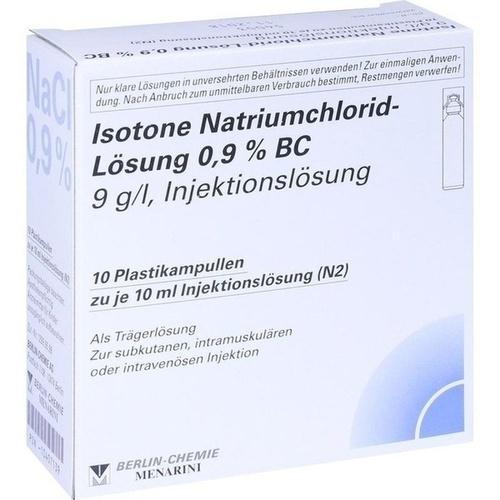 ISOTONE NaCl Lösung 0,9% BC Plast.Amp.Inj.-Lsg., 10X10 ML, BERLIN-CHEMIE AG