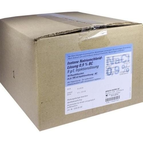Isotone NaCl Lösung 0.9% BC Plastik, 10X100 ML, Berlin-Chemie AG