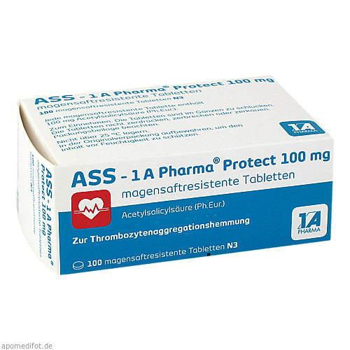 ASS - 1 A Pharma protect 100 mg, 100 ST, 1 A Pharma GmbH