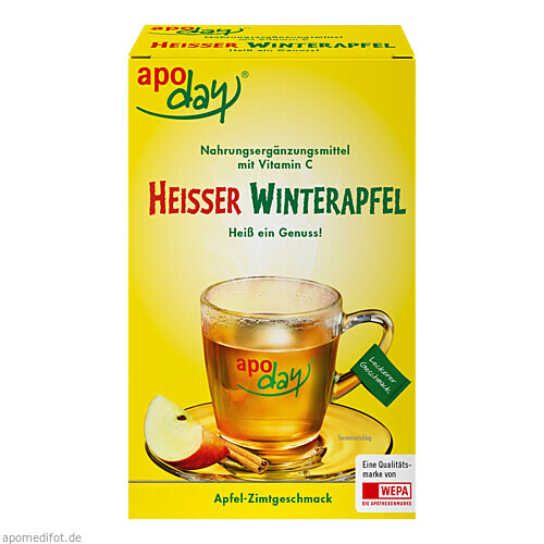 APODAY Heisser Winterapfel Vitamin C, 10X10 G, WEPA Apothekenbedarf GmbH & Co KG