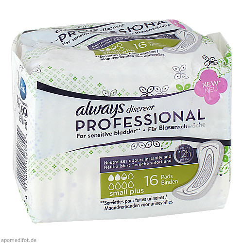 always discreet Professional Small Plus 16, 16 ST, Procter & Gamble GmbH