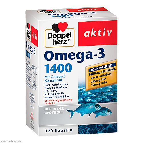 Doppelherz Omega-3 1400, 120 ST, Queisser Pharma GmbH & Co. KG