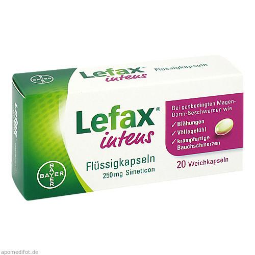 Lefax intens Flüssigkapseln 250mg Simeticon, 20 ST, Bayer Vital GmbH