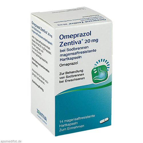 Omeprazol Zentiva 20mg bei Sodbrennen, 14 ST, Zentiva Pharma GmbH