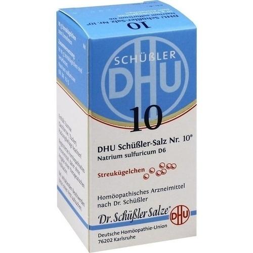 Biochemie DHU 10 Natrium sulfuricum D6, 10 G, Dhu-Arzneimittel GmbH & Co. KG