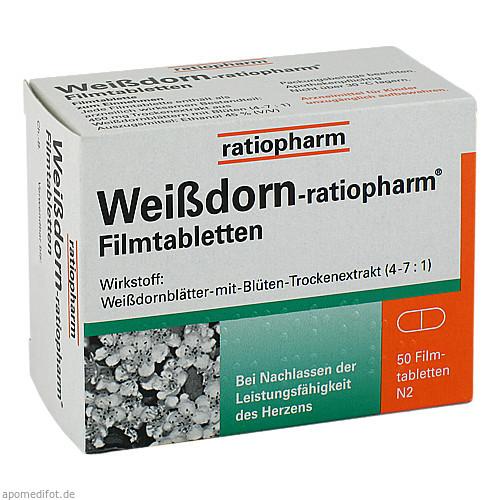 WEISSDORN RATIOPHARM Filmtabletten, 50 ST, ratiopharm GmbH